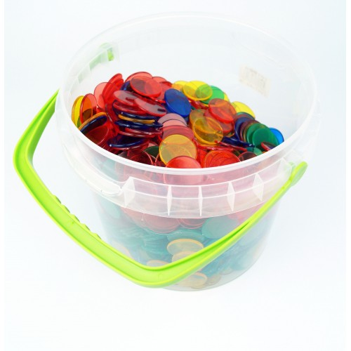 Transparent Counters, Set of 1000