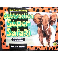 Subtraction Super Safari Card Game