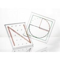 Transparent Circle Geoboard