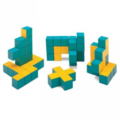 3-D Pentomino Puzzle, Set of 12 pieces