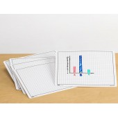Plastic Dry Erase Graphing Board , Set of 30
