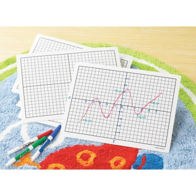 Plastic Dry Erase Graphing Board XY, Set of 30