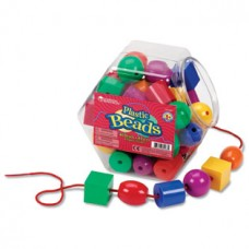Plastic Lacing Beads, Set of 48