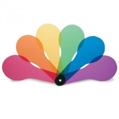 Color Paddles, 6 colors, Set of 18