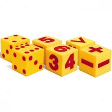 Giant Soft Cubes Class Set, 3 Sets of 2 Dice