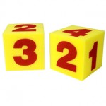 Giant Soft Numeral Cubes, Set of 2