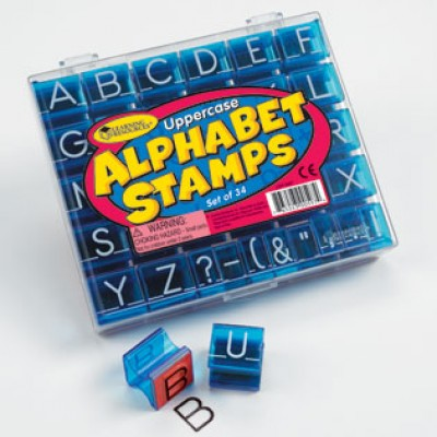 Uppercase Alphabet & Punctuation Stamps