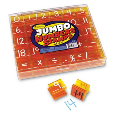 Jumbo Numbers Stamps, Set of 33