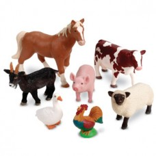 Jumbo Farm Animals, Set of 7