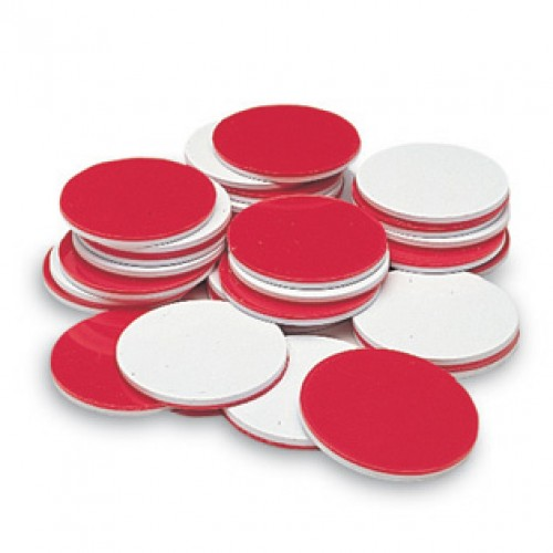 Two-Color, Red and White, Counters, Set of 200
