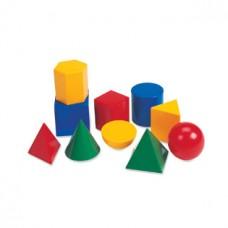 Large Geometric Plastic Shapes, Set of 10