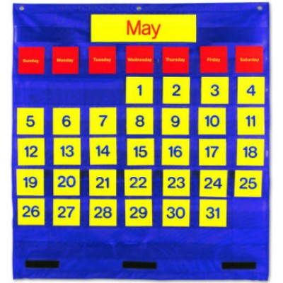 Monthly Calendar Pocket Chart (English/Spanish)