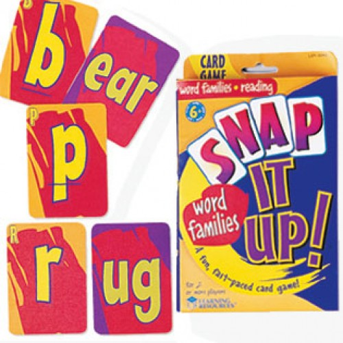 Snap It Up!® Card Games—Phonics & Reading: Word Families