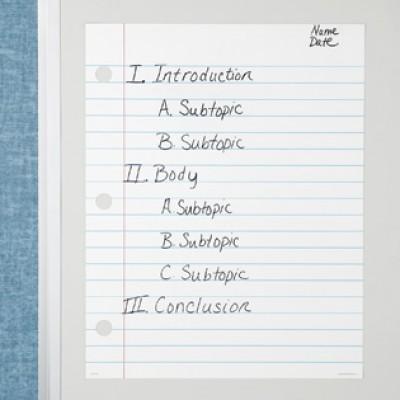 Magnetic Demonstration Notebook Paper