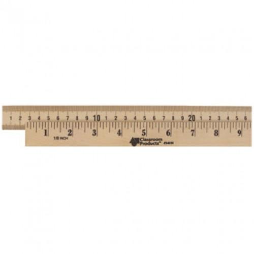 Wooden Meter Stick, Plain Ends