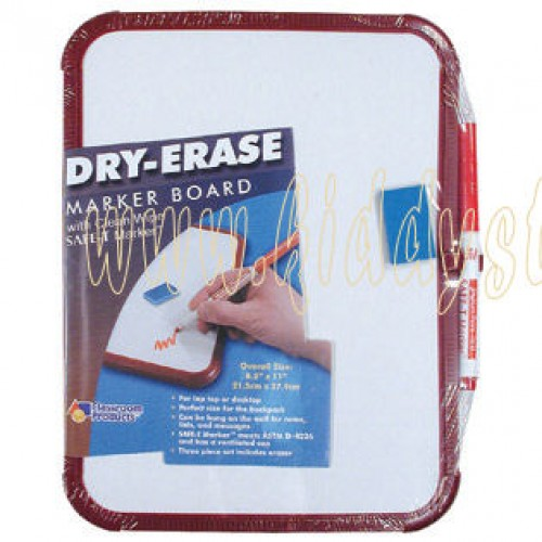 Plain Single-Sided Dry-Erase Framed Board Set