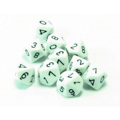 10 Sided Polyhedral Dice, Set of 10