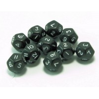 12 Sided Polyhedral Dice, Set of 10