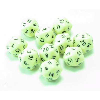 20 Sided Polyhedral Dice, Set of 10