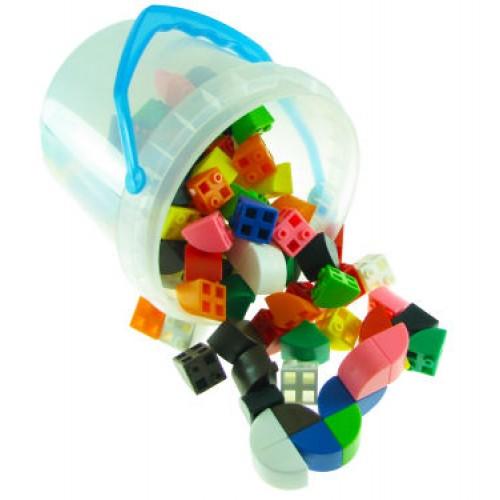 Quarter Circle Link Cubes, Set of 100