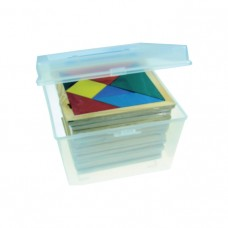 Wooden Tangram(set of 30 in a container)
