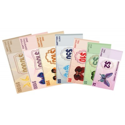 Dollar Notes (Butterfly Series) - Laminated