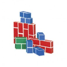 PlayBrix Cardboard Building Bricks-Set of 18 Red