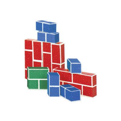PlayBrix Cardboard Building Bricks-Set of 18 Red