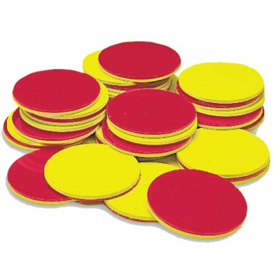 Two-Color Counters,  Yellow & Red, Set of 200
