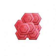 1g Plastic Hexagon Weight(1g weight,set/100)