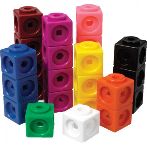 Multi-Link Cubes in storage container, Set of 1000