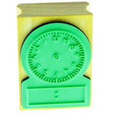 Wooden Clock Stamp