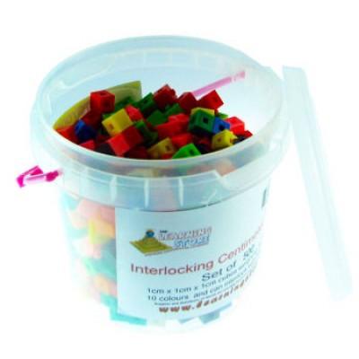 Interlocking Centimeter Cubes, Set of 500