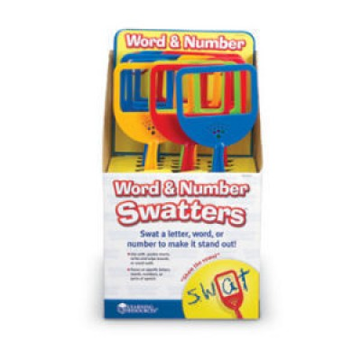 Word & Number Swatters™, Set of 12