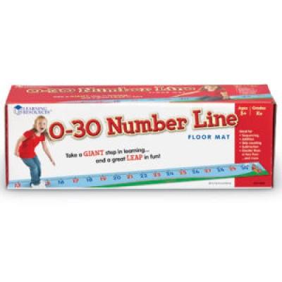 0-30 Number Line Floor Mat
