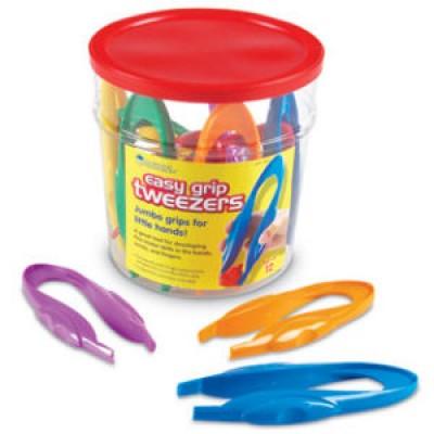 Easy Grip Tweezers, Set of 12