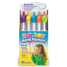 15 inch Rainbow Handpointers, Set of 10
