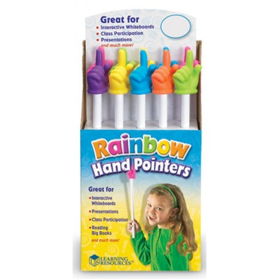 15 inch Rainbow Handpointers, Set of 10