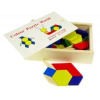 Wooden Pattern Blocks (Set/60)