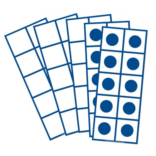 Tens Frames Blank Set of 16 pieces