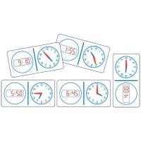 Clock Dominoes Analogue Digital 12hr- Set of 28 pieces