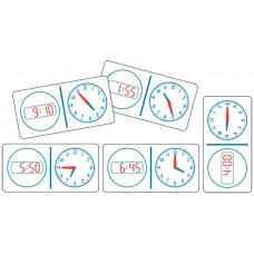 Clock Dominoes Analogue Digital 12hr- Set of 28 pieces