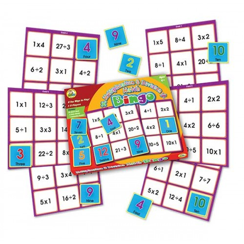 Multiplication and Division Match Bingo