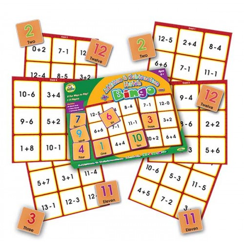Addition and Subtraction Match Bingo
