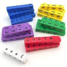 Reading Rods Phonics Word Building Letter Cubes, Set of 141