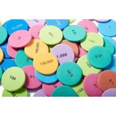 Place Value Disks, 8 Values, Set of 200