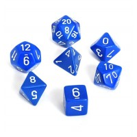 Polyhedral Dice, Set of 7 - Blue
