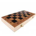 3-in-1 Chess, Backgammon and Checkers set