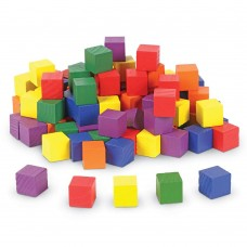 Wooden Color Cubes, 1inch, Set of 102