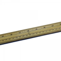 Wooden Metre Ruler with metal end